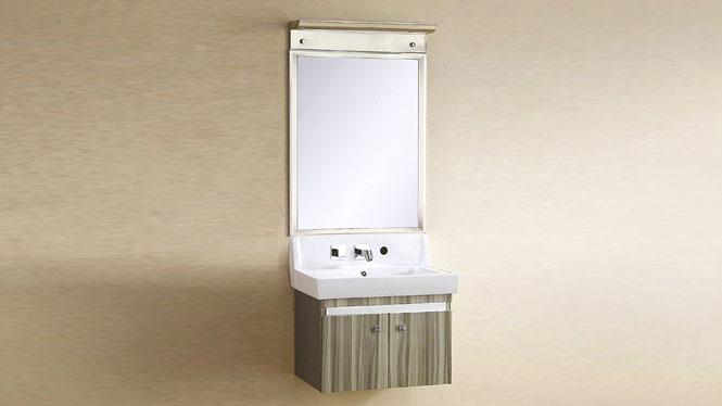 不锈钢浴室柜组合 小户型卫生间洗脸盆 挂墙式卫浴柜组合 600mm YB-9105