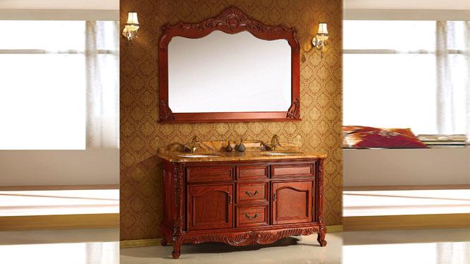 仿古欧式浴室柜组合美式实木卫浴柜洗手洗脸盆柜厕所台盆柜 1500mm Y-3010