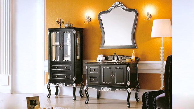 欧式浴室柜落地实木仿古浴室柜橡木美式浴室柜洗脸盆柜组合 1010mm Y-3018
