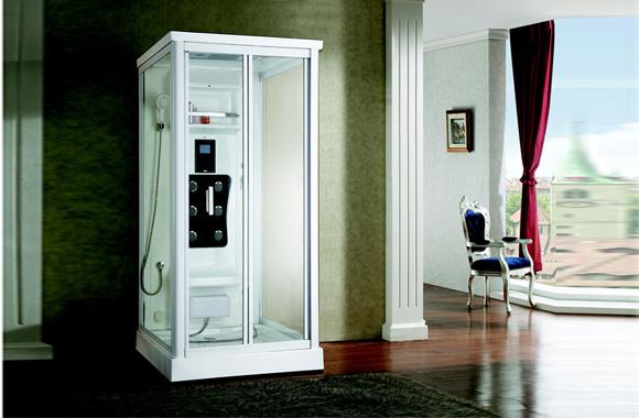 浴室洗浴房 整体浴房 钢化玻璃隔断挡水简易淋浴房 A017