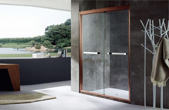 一字型不锈钢玻璃淋浴房整体简易淋浴房家用浴室K-1906