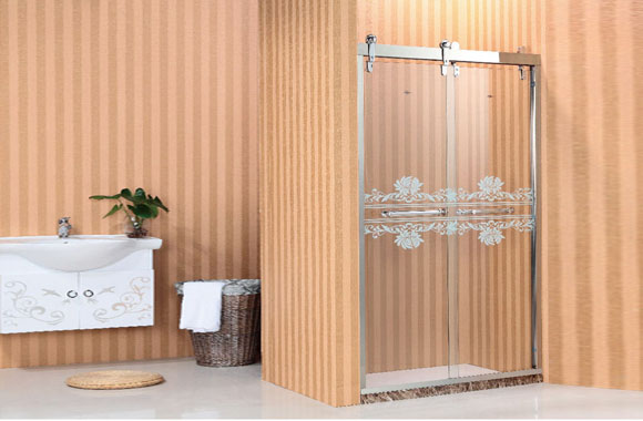 一字型 不锈钢 淋浴房 双活F1