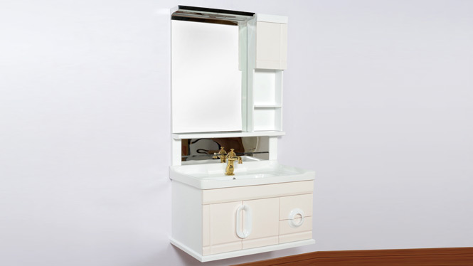 PVC浴室柜整体洗漱台上盆挂墙洗手台盆柜组合卫浴柜洗脸盆柜组合 800mm 1291