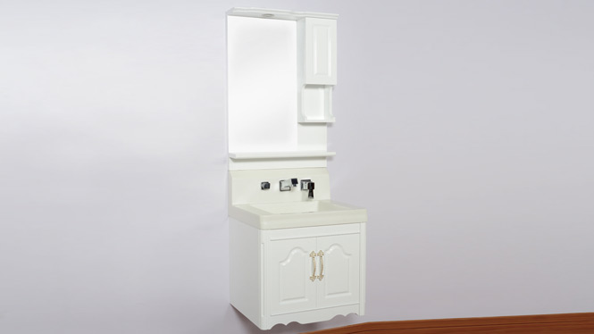 实木橡木现代中式浴室柜组合  洗手洗脸盆 挂墙式玉石吊柜600mm B9