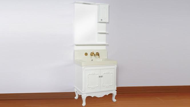 橡木实木落地式浴室柜洗手盆卫浴柜人造玉石盆 700mm B1
