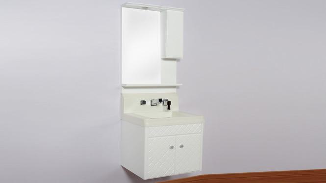实木橡木欧式浴室柜组合 洗手洗脸盆 挂墙式玉石吊柜 600mm B8