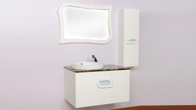 玉石挂墙实木浴室柜组合洗脸池洗手盆洗漱台柜高档面盆卫生间柜 可定制 B3