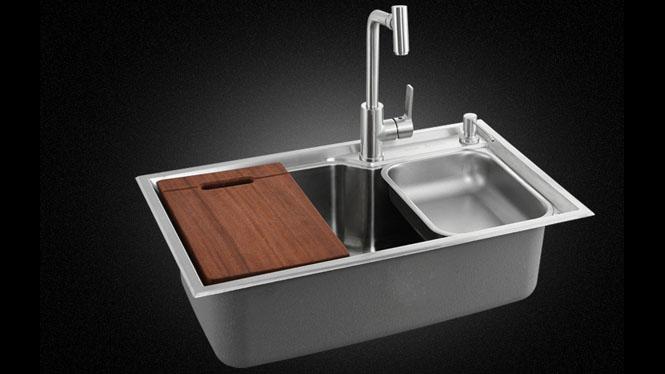 304不锈钢水槽超大套餐单槽厨房多功能洗菜盆厨盆水槽 单槽7545L