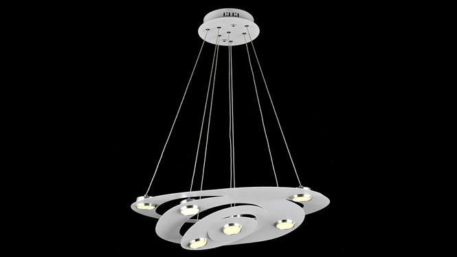 铁艺ed吊灯创意客厅餐厅灯简约现代卧室灯饰灯具 FD8033-4-7