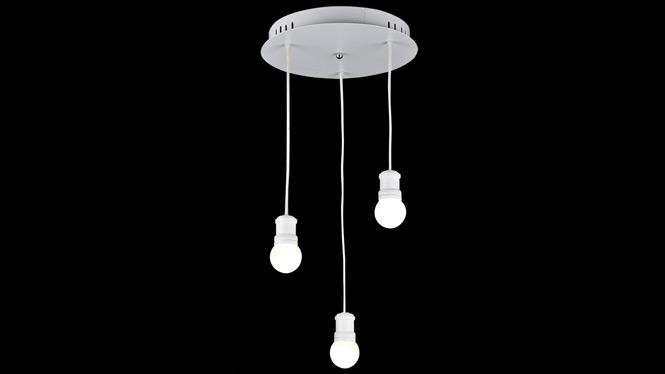 餐厅灯吊灯 三头创意现代简约LED饭厅灯具餐厅单头吧台灯饰餐吊灯FD8053-1-3