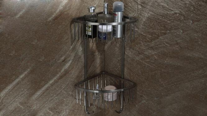 304不锈钢单双层浴室三角网蓝收纳蓝置物架卫生间LJ51017