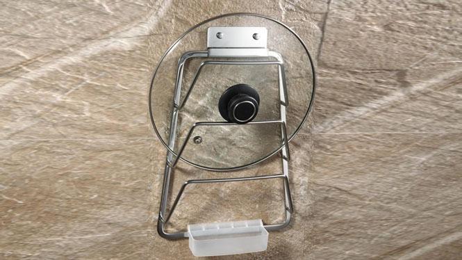 304不锈钢锅盖架带接水盘挂架砧板架厨房用品置物架LJ807
