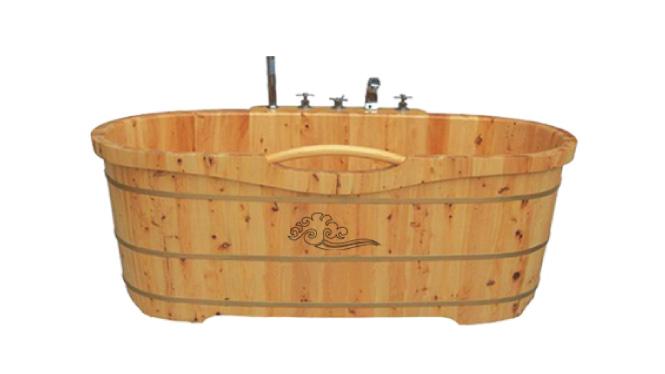 香柏木木桶 浴桶质浴缸洗澡木桶实木浴缸成人泡澡沐浴桶 RY002
