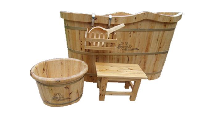 香柏木木桶浴桶质浴缸洗澡木桶实木浴缸成人泡澡沐浴桶RY003