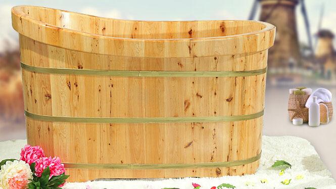 香柏木木桶 泡澡洗澡洗浴 木质浴缸浴桶 RY006
