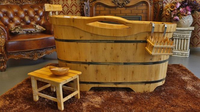 香柏木桶浴桶薰蒸泡澡浴缸 洗澡桶沐浴桶浴盆RY008