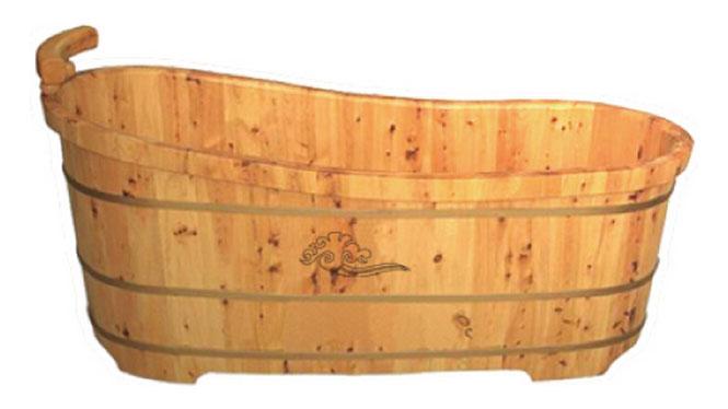 香柏木单人木桶浴缸沐浴桶成人浴盆熏蒸泡澡桶洗澡沐浴盆RY010