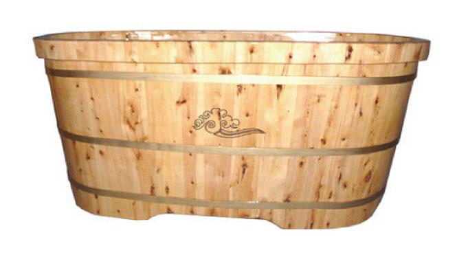 香柏木木桶成人浴桶实木浴缸泡澡沐浴桶洗澡木桶加厚边RY004
