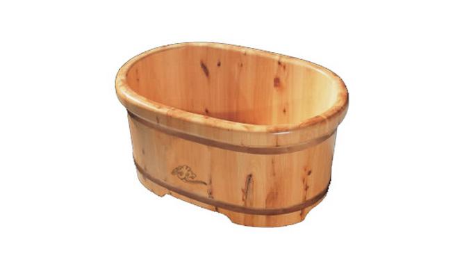 香柏木沐浴盆婴儿沐浴桶儿童木桶宝宝泡澡桶老人洗澡盆RY022