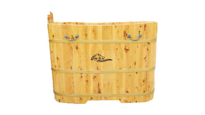 香柏木小户型 泡澡桶鹅蛋型木质浴缸 女生泡浴木桶 RY017