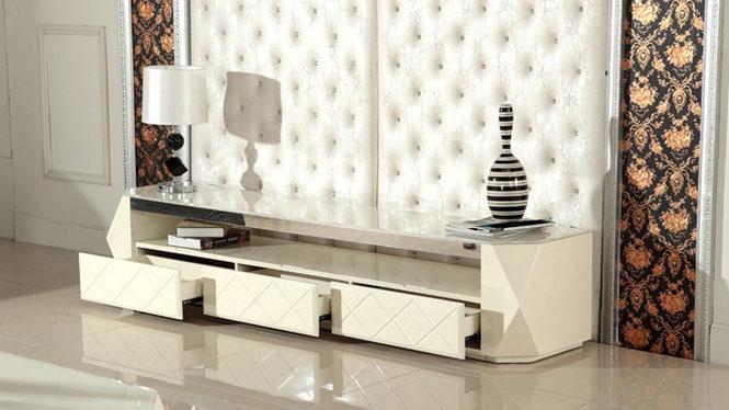电视柜简约现代钢琴烤漆钢化玻璃茶几电视柜M985
