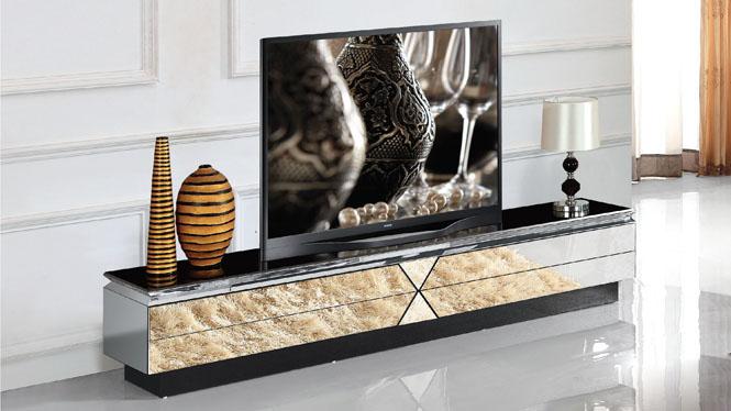 全玻璃电视柜韩式简约时尚钢化玻璃烤漆大户型创意组合地柜M967