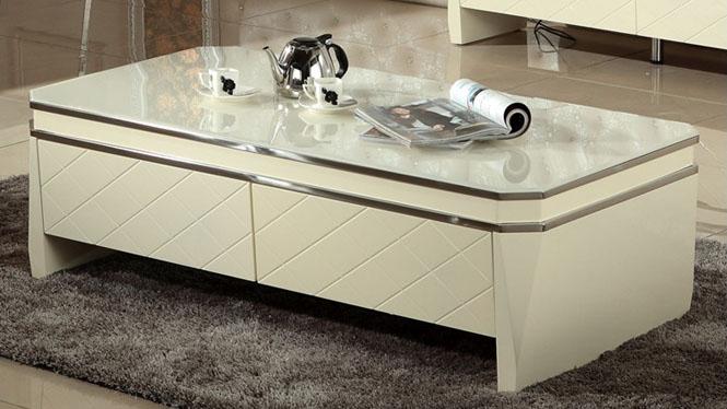 茶几钢化玻璃客厅烤漆抽屉电视机柜组合套装时尚简约创意M956