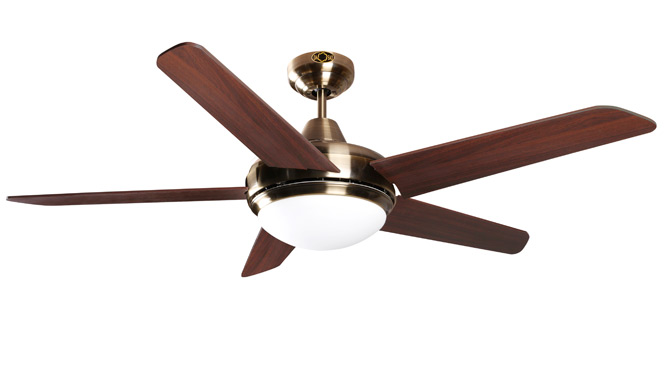 52寸风扇灯餐厅吊扇灯欧式仿古现代简约时尚客厅遥控电风扇灯DB52003-1ABM