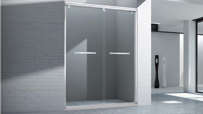 一字形淋浴房浴室洗浴房隔断门挡水滑门简易淋浴房1561