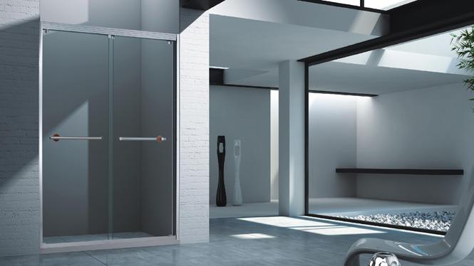 铝合金淋浴房整体 简易浴房 一字型玻璃隔断洗浴房 整体卫生间浴室1568