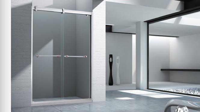 304不锈钢淋浴房整体 简易浴房 一字型玻璃隔断洗浴房 整体卫生间浴室1565
