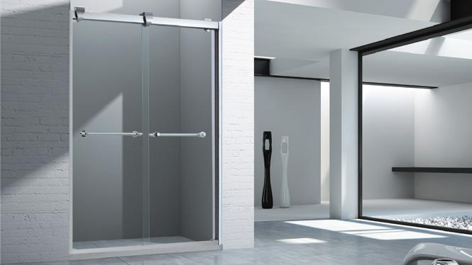 一字型淋浴房隔断 钢化玻璃简易洗浴房 卫生间浴室浴屏1566