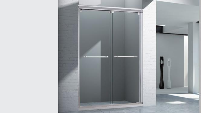 一字型淋浴房 钢化玻璃移门隔断浴屏 简易浴室洗澡间整体淋浴房1701