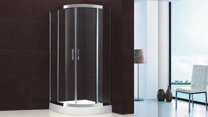 扇形淋浴房 整体浴室隔断钢化玻璃浴屏简易浴房 屏风不锈钢洗澡间1707