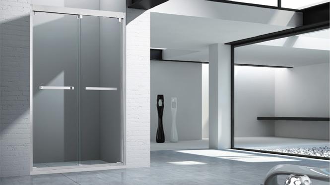 304不锈钢淋浴房整体简约一字型形浴室 钢化玻璃1706