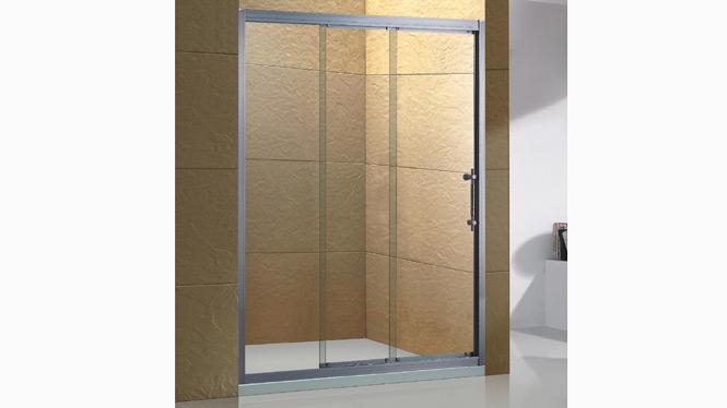 铝合金淋浴房 淋浴隔断一字型淋浴室钢化玻璃整体淋浴房1559