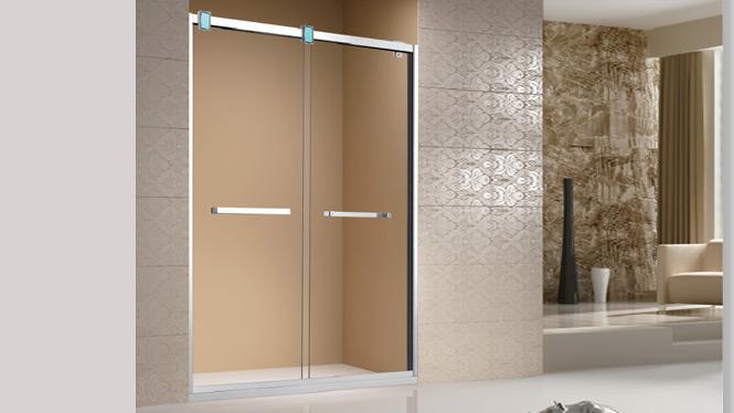 简易淋浴房整体 304不锈钢淋浴房浴室隔断一字型淋浴房1711