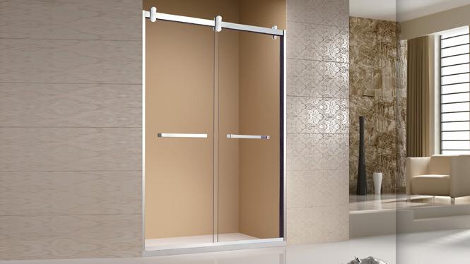 一字型玻璃隔断洗浴房 整体卫生间浴室 不锈钢淋浴房 简易浴房 1709B