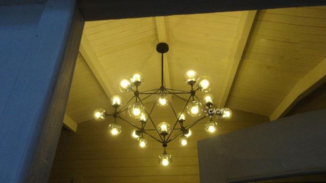 美式乡村创意北欧别墅古典餐厅客厅灯具 麻豆吊灯10-15-21头