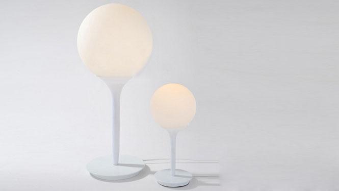 客厅灯饰灯具_意大利海狸台灯 灯饰 奶白玻璃装饰