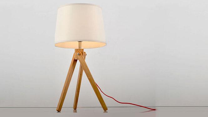 创意台灯_时尚创意木艺台灯卧室床头灯具客厅灯书房 热卖款