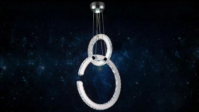 创意水晶灯led客厅灯水晶灯现代餐厅灯水晶吊灯不锈钢客厅B7510