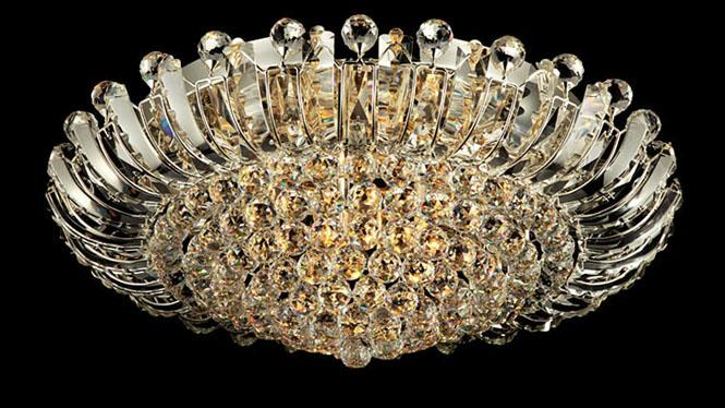 新奢华大气高贵酒店会所家居大客厅卧室装修饰埃及K9水晶吸顶灯饰M9101