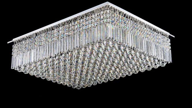 欧式长方形水晶灯餐厅灯吊灯创意led吸顶灯客厅卧室现代简约灯具M9117A