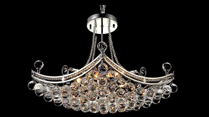 欧式水晶灯餐厅灯吊灯创意led吸顶灯客厅卧室现代简约灯具M9121
