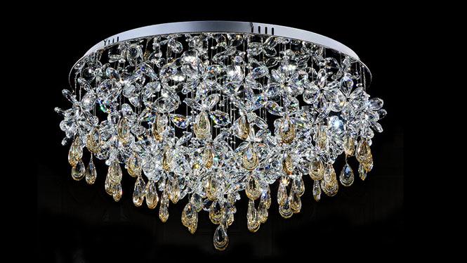 圆形大功率led埃及K9水晶灯酒店工程灯家居装饰卧室客餐厅吸顶灯M9133