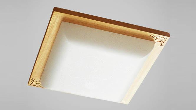 现代简约led吸顶灯中式实木木艺灯饰 客厅卧室书房日式亚克力灯具BC-W02-47