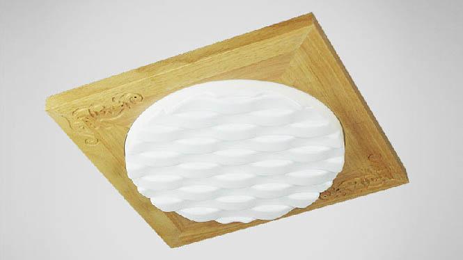 现代时尚简约中式吸顶灯具亚克力厨房客厅卧室书房木艺吸顶灯方形BC-JY450