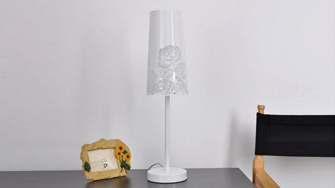 现代简约欧式雕花宜家台灯 时尚灯饰灯具卧室床头书房客厅台灯BT-R114