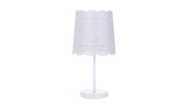 现代简约宜家客厅卧室床头台灯创意白色雕花台灯中间无花纹BT2126A